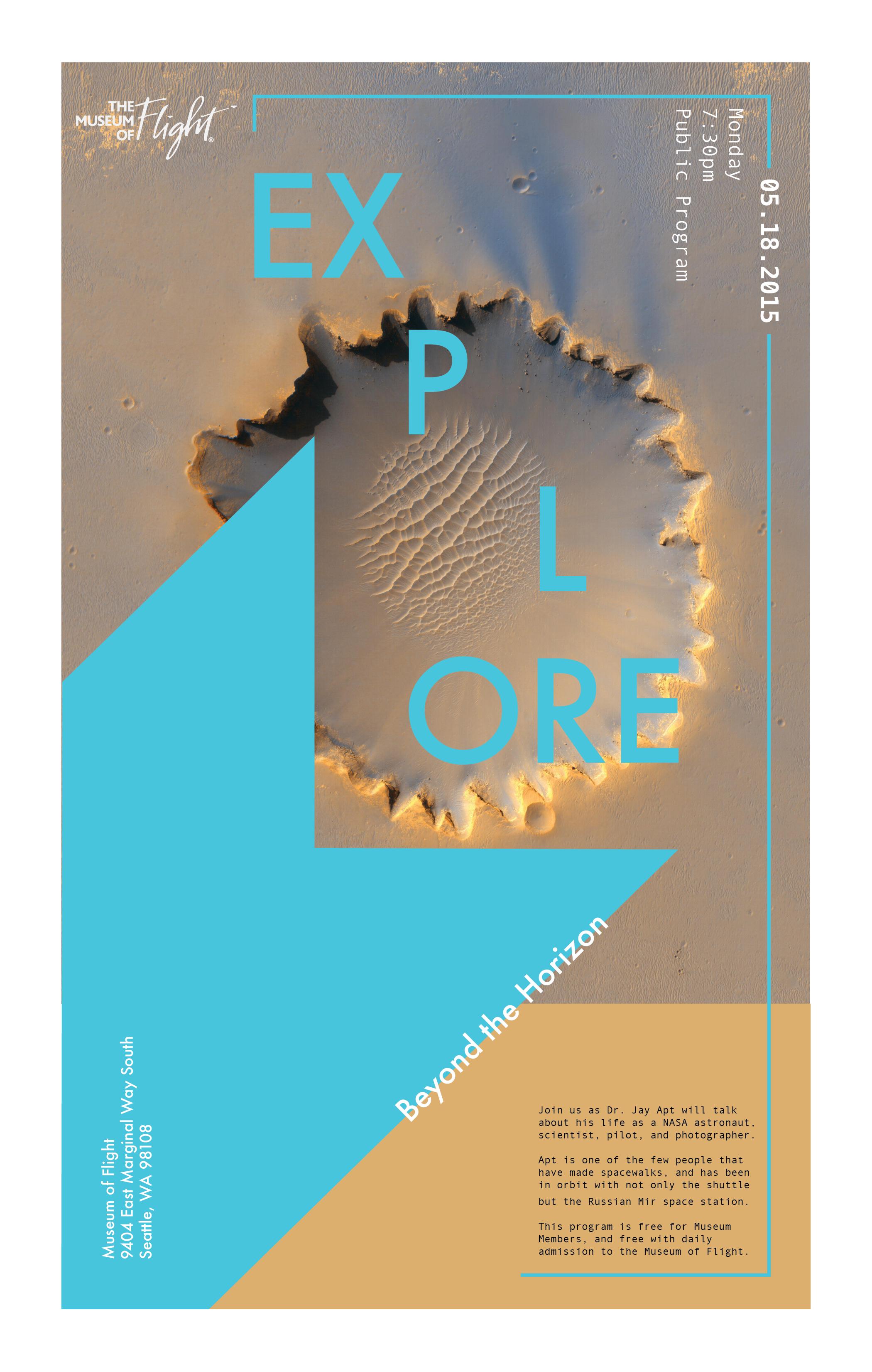 Poster design layout principles - Typeface Futura Andale Mono
