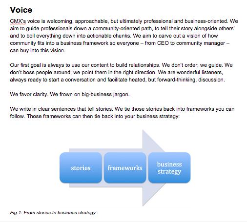 CMX voice guide