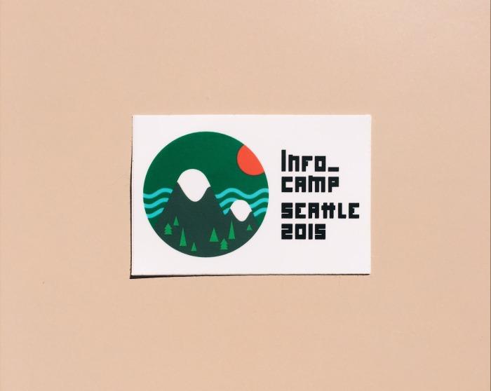 Infocamp 2015 logo sticker