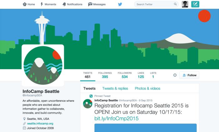InfoCamp Seattle Twitter
