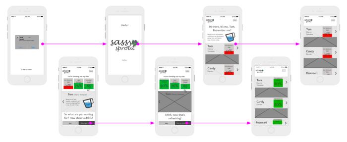 Sassy Sprout mobile app v1